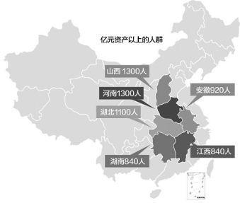 中国大陆资产过亿富翁 超6.45万人 北京最多 超过万人