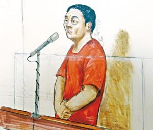 赵利将于6月11日再度提堂。 Felicity Don 法庭素描