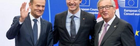 加拿大总理特鲁多此前表示,这个协议标志着加拿大与欧洲的关系开启一个新时代。