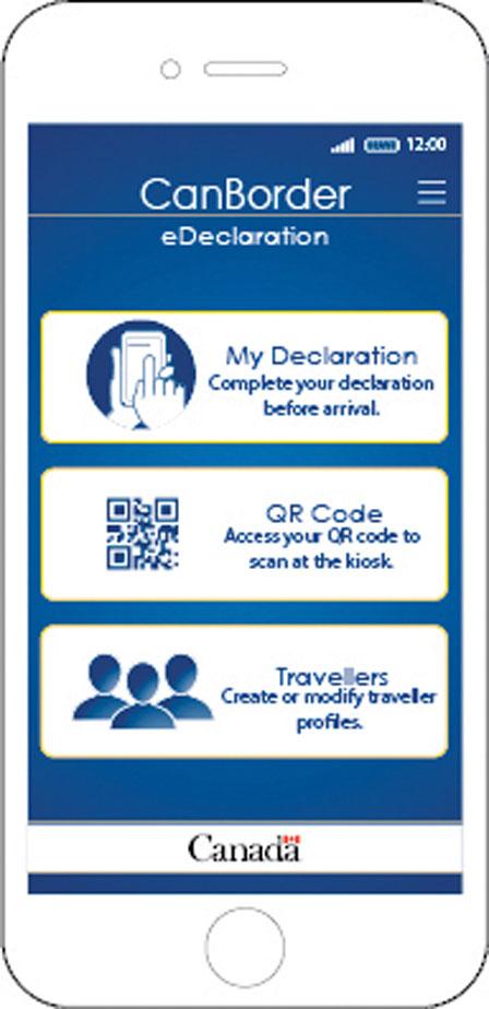 CanBorder - eDeclaration的手机应用程式(加拿大边境服务局网站)