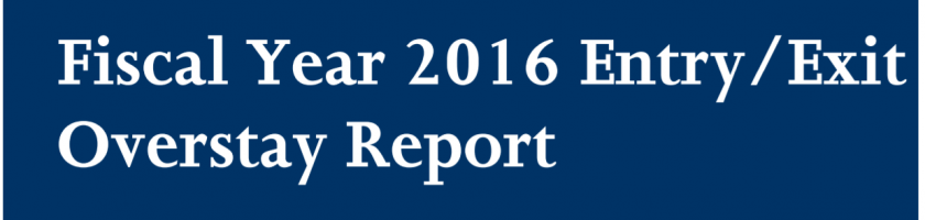 美国国土安全部出台的《出入境逾期滞留报告》