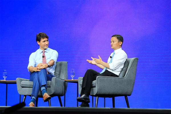 """马云向加拿大总理提""""简化签证"""" 给中国人机会"""