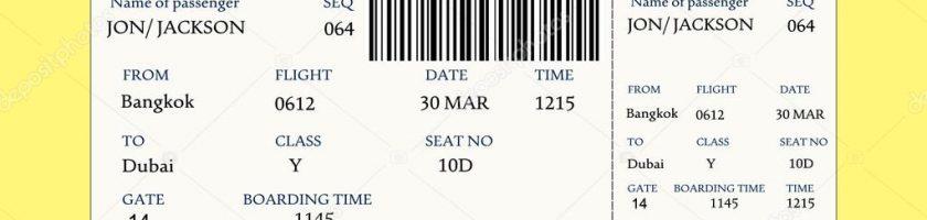 航空公司的登机证