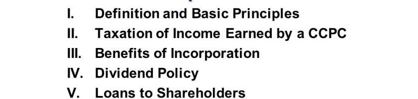 CCPC加拿大税改 计划全面取消中小公司(即CCPC)在税务上的优惠