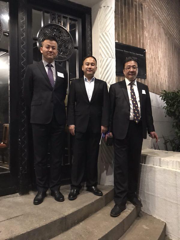 嘉和国际 Mr. Hu 和 东尚科技 CEO Mr. Jiang , 友亚科技 CEO Mr. Fan