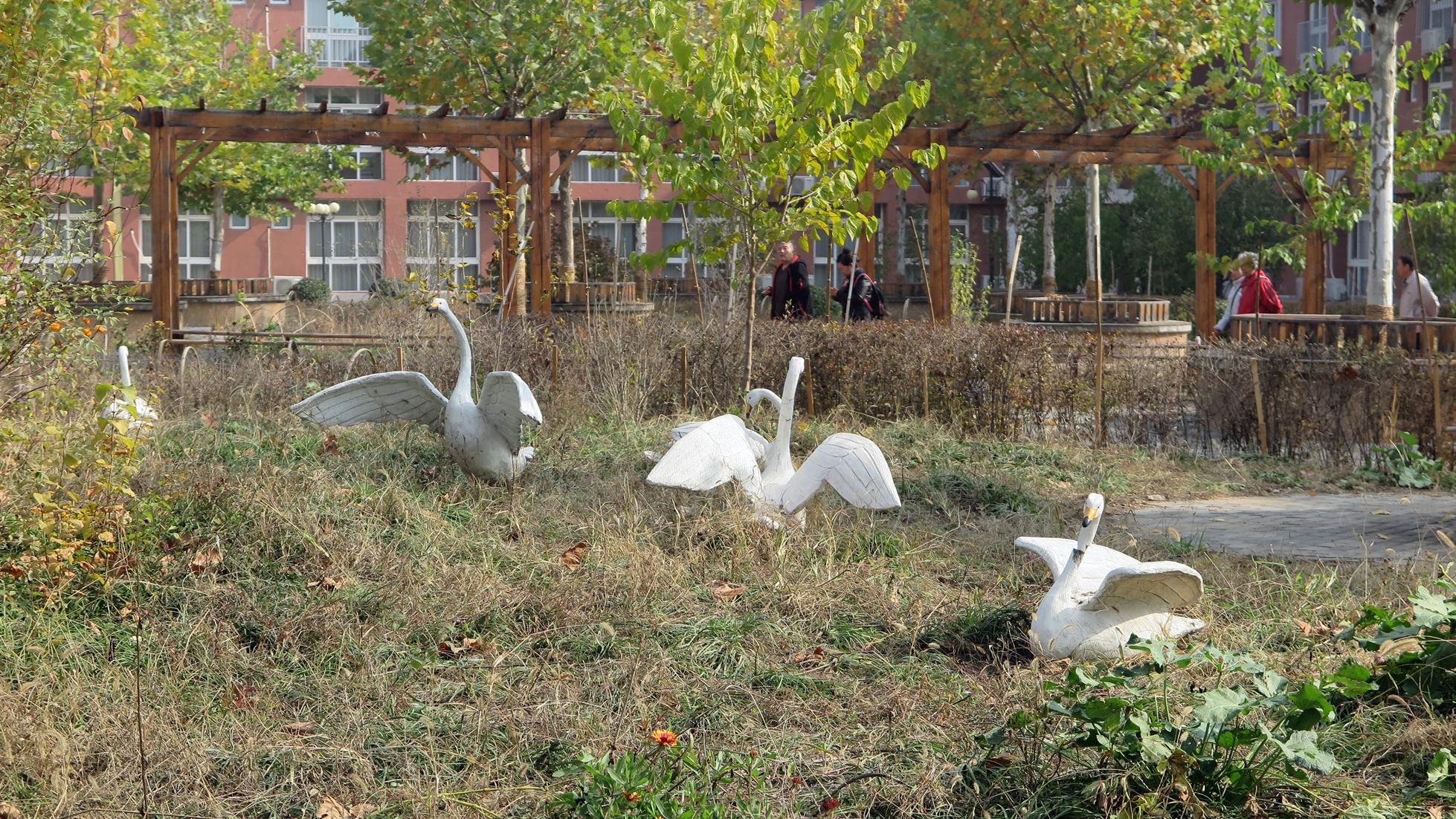 园林白鹤装饰